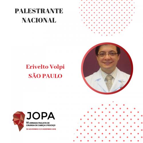 Dr. Volpi confirma presença na VI JOPA CCP